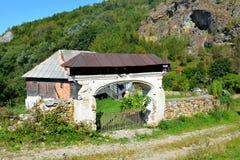 Typical houses in Rosia Montana, Apuseni Mountains, Transylvania. Rosia Montana is a commune of Alba County in the Apuseni Mountains of western Transylvania Royalty Free Stock Photos