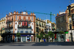 Typical houses from Seville Royalty Free Stock Photography