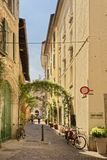 A quiet side street in como Italy away from the tourists Stock Image