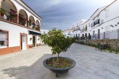 Typical houses in spanish Sanlucar tow Royalty Free Stock Images