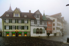 Typical houses in St. Gallen Stock Photo