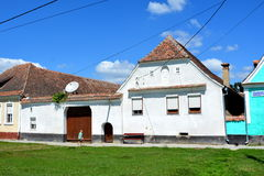 Typical houses in the village Crit - Kreutz, Transylvania. Stock Images