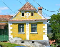 Typical houses in the village Crit - Kreutz, Transylvania. Royalty Free Stock Images