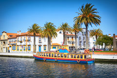 Typical houses at Vouga river. Aveiro royalty free stock photography