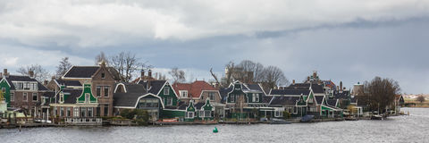 Typical houses of the Zaanse Schans in Holland, the Netherlands Royalty Free Stock Image