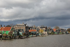 Typical houses of the Zaanse Schans in Holland, the Netherlands Stock Photography