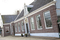 Typical houses in Zaanse Schans museum Royalty Free Stock Photos