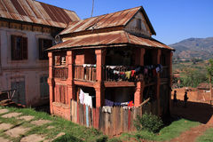 Typical housing of Highland Madagascar Royalty Free Stock Photo