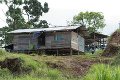 Typical housing of the indigenous people Royalty Free Stock Photo