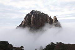 Typical of huangshan mountain scenery, picturesque like fairyland Royalty Free Stock Photos