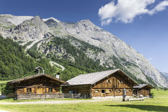 Typical huts in Austrian Apls Royalty Free Stock Images