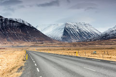 Free Typical Iceland Landscape With Road And Mountains. Stock Image - 97372311