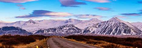 Free Typical Iceland Landscape With Road And Mountains. Royalty Free Stock Photography - 97372567