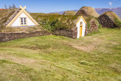 Typical Icelandic farm  - Glaumber, Iceland. Royalty Free Stock Photography