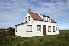 Typical Icelandic house. Stock Photography