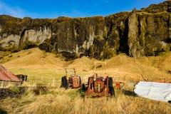 Typical Icelandic landscape between Vik and Joekulsarlon in Iceland royalty free stock images