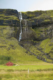 Typical Icelandic mountainside near the aouthern Ring Road Royalty Free Stock Image
