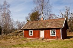 Typical idyllic swedish summer house. Stock Photography