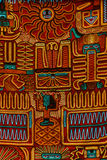 Typical inca style cloth pattern Stock Photography