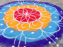 Typical Indian Rangoli Royalty Free Stock Photo