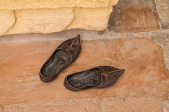 Typical indian shoes Stock Photos