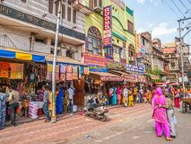 Typical Indian street in Amritsar Royalty Free Stock Images