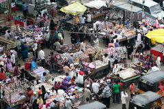 Typical indian street market,Hyderabad,India Royalty Free Stock Photography