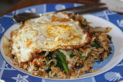 Typical indonesian dish: nasi goreng. Typical indonesian dish: nasi goreng, fried rice in Bali Royalty Free Stock Photography