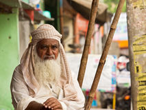Typical inhabitant of the region of Rajasthan Royalty Free Stock Images