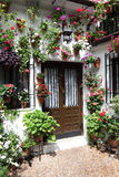 Typical inner courtyard in Cordoba Royalty Free Stock Image
