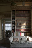 Typical interior of English castle. Leeds Castle Interior Inside Room Library. LONDON, ENGLAND - JULY 12, 2016 Typical interior of English castle. Leeds Castle stock photos