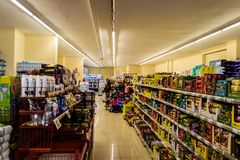 Grocery Store Interior - Turkey Royalty Free Stock Photo