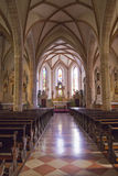 Typical interior of the Italian church Royalty Free Stock Photos