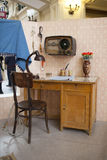 Typical interior of a room in a Soviet apartment. Royalty Free Stock Images