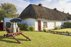 Typical Irish House in Adare - Ireland. Typical Thatched Roof Irish House in Adare - Ireland Royalty Free Stock Photo