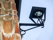 Typical iron lantern on Jewish neighborhood of Hervas, Spain Royalty Free Stock Photography