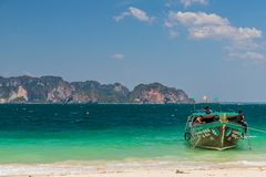 A typical island view in Thailand stock images