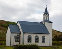 Typical islandic wooden church. In Iceland royalty free stock photos