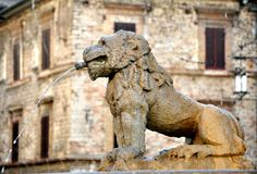 Typical Italian architecture :old fountain Stock Image