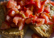 Typical Italian bruschetta Stock Photography