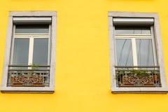 Typical building facade in the center of Grenoble, France Stock Photos