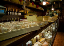 Typical Italian cheese shop Stock Photography