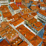 Typical Italian city, 3d illustration Royalty Free Stock Photo