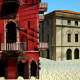 Typical Italian city, 3d illustration Stock Photo