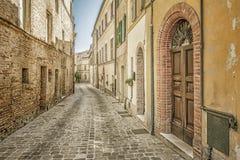 Typical italian city street Stock Image