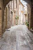 Typical italian city street Royalty Free Stock Photo