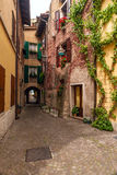 Typical Italian courtyard, Italy Royalty Free Stock Image