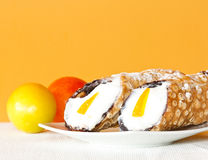 Typical italian dessert called Cannolo Stock Photography