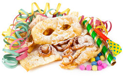 Typical Italian dessert for carnival, Royalty Free Stock Image