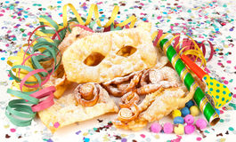 Typical Italian dessert for carnival, Stock Image